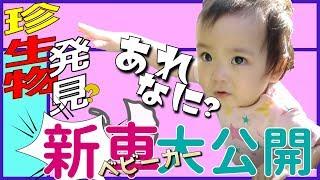 【公園デビュー成功!?・・・】靴が大っ嫌いな1歳0ヶ月の赤ちゃん~新ベビーカーでお散歩♫~みはるんchannel