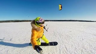 GoPro: Snowkiting in Kostomuksha