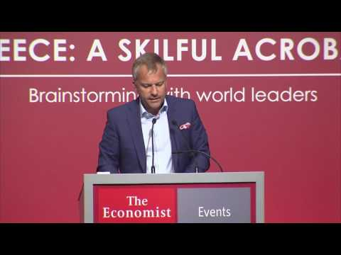 Alexandros Karafillides at The Economist 20th Greek Government Roundtable Discussion