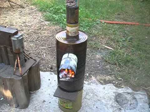 New review on downdraft rocket stove heater concept