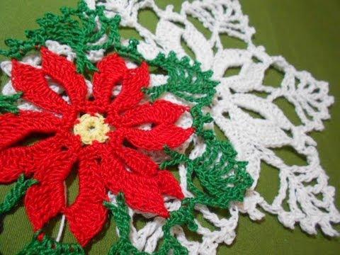 Flor Noche Buena Crochet