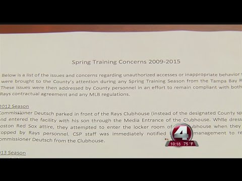 Commissioners called out for bad behavior at Ray's stadium
