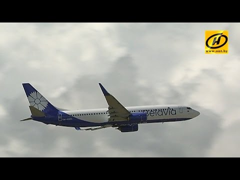 «Белавиа» презентовала новый Boeing с васильком