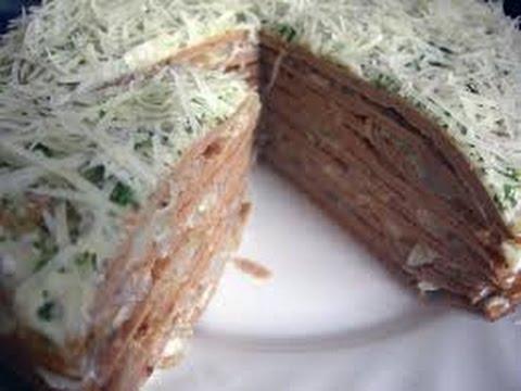 Печеночный торт с сыром / Готовить легко