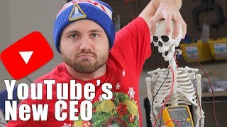 Robot Skeleton Replaces YouTube CEO