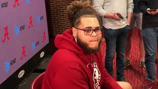 Jedrick Wills Jr. talks about Alabama's offensive line