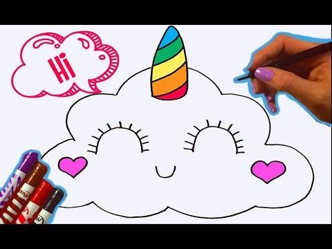 KAWAII РИСУНКИ | Как нарисовать кавайное облачко ЕДИНОРОГ  | DIY Kawaii