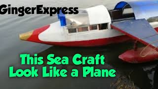 This sea-craft look likes a plane,has a car's engine,and docks like a boat