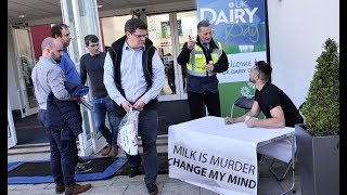 VEGAN KICKED OUT OF UK'S BIGGEST DAIRY EVENT!