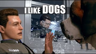 "Detroit Become Human - Connor ""I Like Dogs"" & Russian Roulette (All Dialogue)"