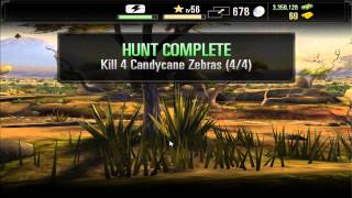 Kill Candycane Zebras Deer Hunter 2014