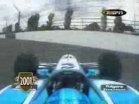 Sarah Fisher crashes - 2001 Indy 500 Video