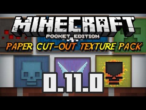 Minecraft PE 0.11.X Paquete de Textura Paper Cut Out Texture Pack Español Simple y Pixeloso