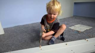 Ikea Stuva Bed assembled by nearly 3 year old Alexander Maximus Praxmajer by Microsoft lumia 950 xl