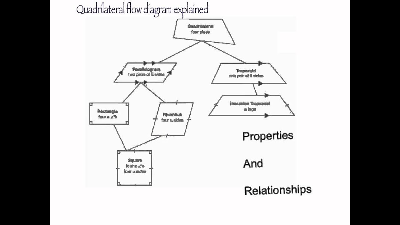 Quadrilateral Flow Chart Quadrilateral Relationships