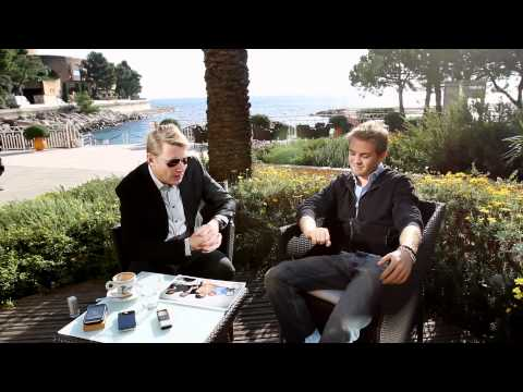 Nico Rosberg meets Mika Häkkinen: driving in a SLS AMG through the streets of Monaco before GP 2012