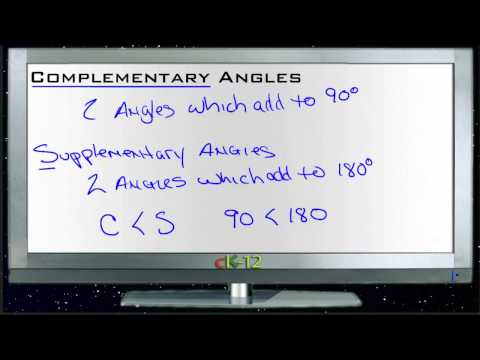 Complementary Angles Principles - Basic