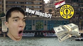 Egypt gold's gym is so expensive (workout at Gold's Egypt)