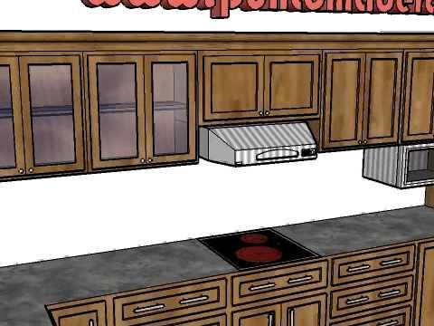 Mes n o encimera de cocina en granito y madera s lida - Cocinas con encimera de madera ...