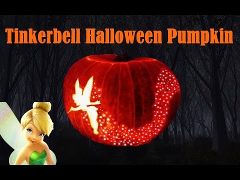 Diy how to make helloweeen carved pumpkin youtube for How to carve tinkerbell in a pumpkin