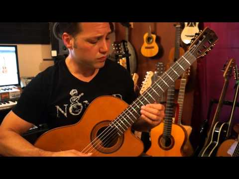 "Michael ""NOMAD"" Ripoll demonstrating the Mérida T25-CES Nylon string guitar. http://t.co/thrhRkdJuB"