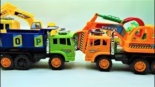 How to assemble the super truck and super excavator truck, truck toys and car toys for kids
