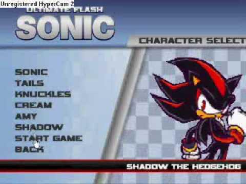 ultimate flash sonic cheatcode GET SHADOW & AMY!