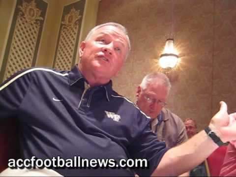 Wake Forest head football coach Jim Grobe at 2009 ACC Football Kickoff