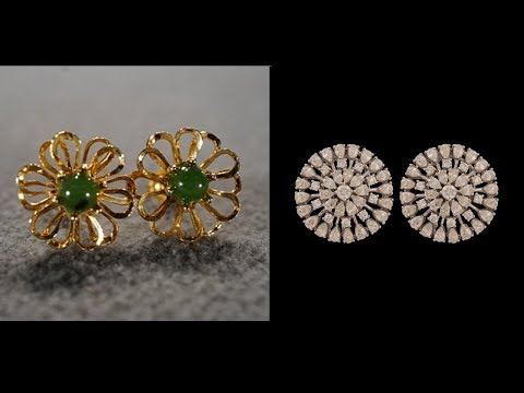 Latest Gold Earring Stud Designs - She Fashion