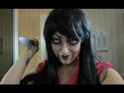Ond dukke (Evil Doll) -  Halloween makeup