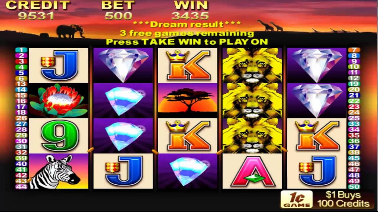 free feature on 50 lions pokie machine free spins youtube. Black Bedroom Furniture Sets. Home Design Ideas