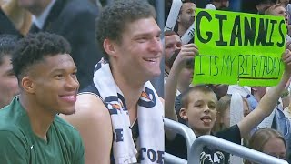 Giannis Shares A Special Moment With Bucks Crowd On His Birthday! Clippers vs Bucks 2019 NBA Season