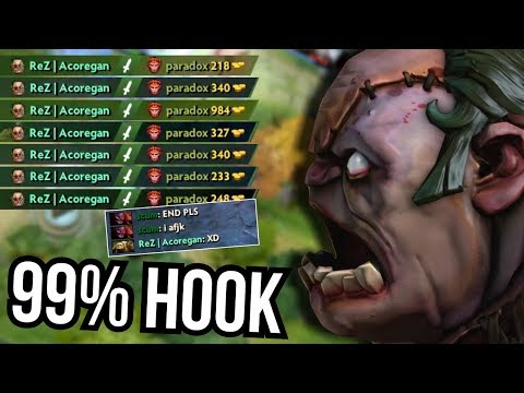 SON OF DENDI - Amazing Pudge 99% Hook Accuracy by Rez 7.08 | Dota 2