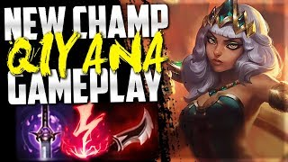 *NEW* CHAMPION QIYANA IS SO FUN!!! (29 KILLS) New AD Assassin - League of Legends