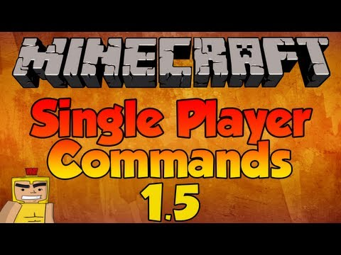 How to use NEW Single Player Commands - Minecraft 1.7.4