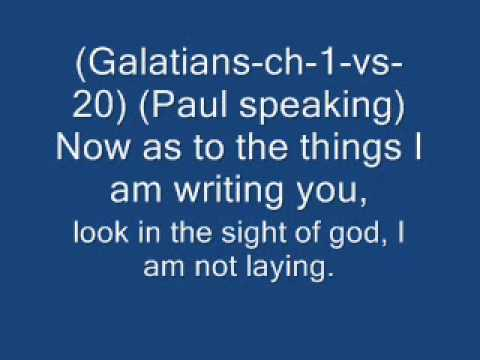 Why Paul keeps saying I am not lying in the bible?