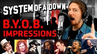 download musica SYSTEM OF A DOWN - BYOB Cover + Vocal Impressions by Parasyche