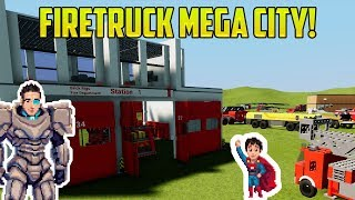 FIRE TRUCK MEGA CITY! Cars for Kids with BRICK RIGS