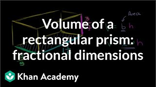 Volume of a rectangular prism: fractional dimensions | Geometry | 6th grade | Khan Academy