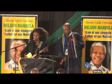 Zahara And Mbuli Sing Madiba Tribute Song video