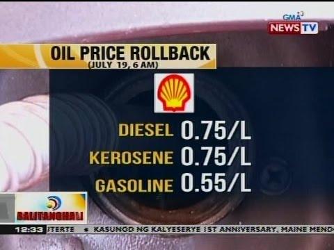 BT: Oil price rollback, ipatutupad