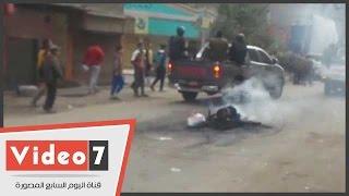 عناصر الإخوان يقطعون شارع