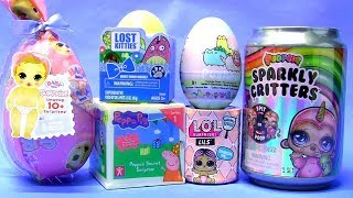 Slime Soda Sparkly Critters toy Surprise LOL Baby Born Kinder egg Play doh Peppa