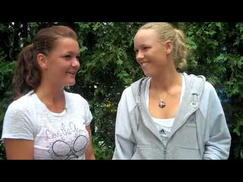 Caroline Wozniacki and Agnieszka Radwanska play the newlywed game