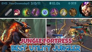 BEST UTILITY JUNGLER FORTRESS WITH OP TEAM CRAZY OBJECTIVE CONTROL - VAINGLORY 5V5 RANKED TIPS