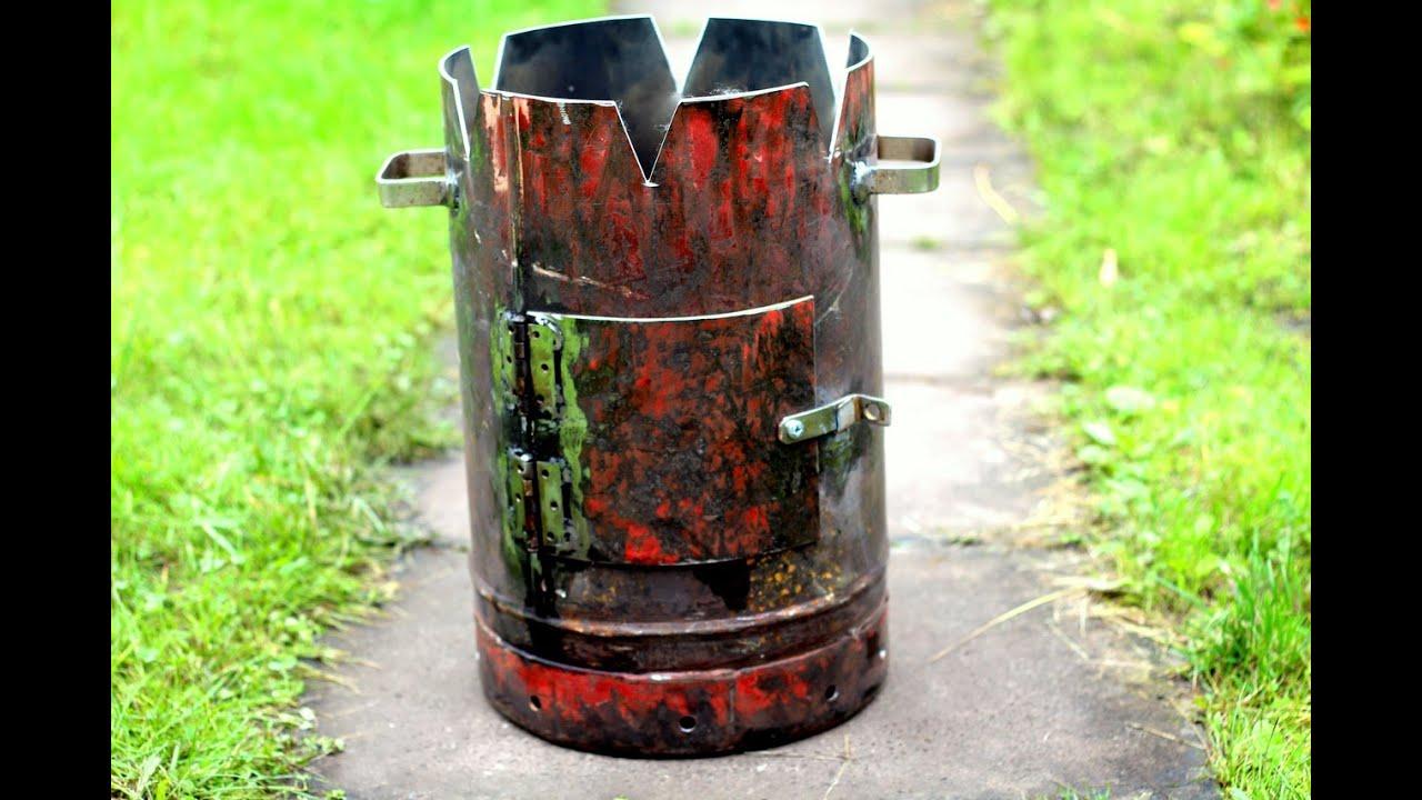 Печка из газового баллона для казана своими руками