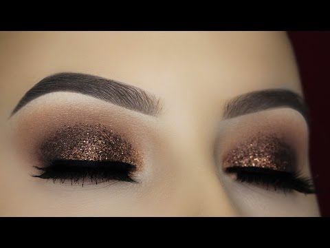 Brown Glitter Eye Makeup Tutorial