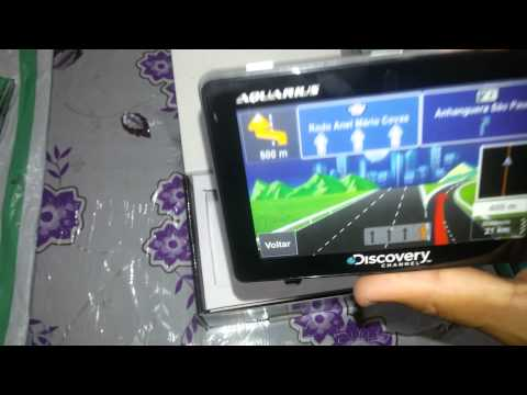 Unboxing Gps Aquarius Discovery Channel 4.3