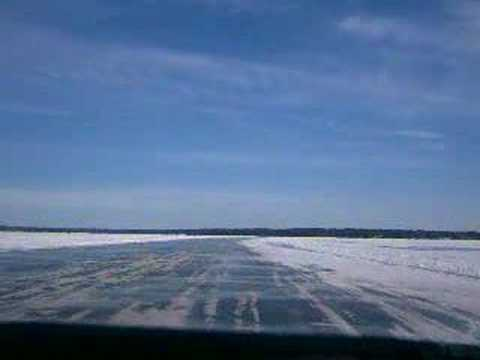 Driving the Madeline Island Ice Road