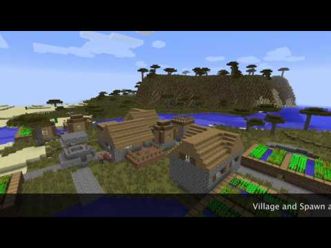 Minecraft 1.7.2 Savanna big village seed